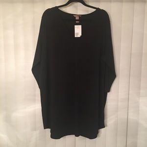 NWT H&M Black V neck Tunic